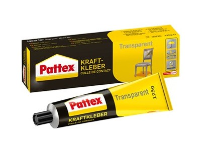 Pattex Colle de contact transparente 125g (Par 12)
