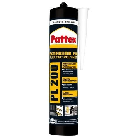 PATTEX - Colle Mastic PL200 - 450 g - blanc