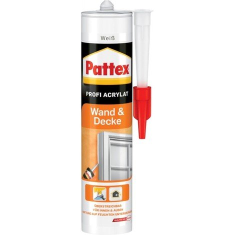 Pattex Colle mur et plafond Acrylique 300 ml, blanc (Par 12)