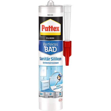 Pattex Dusche Bad Silikon weiß