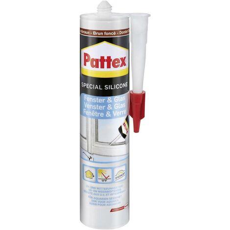 Pattex Fenster & Glas Silikon Farbe Dunkelbraun PFGFB 300ml S85418