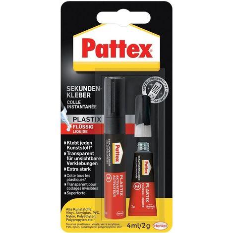 Pattex segundo pegamento plástico líquido 2g/4ml