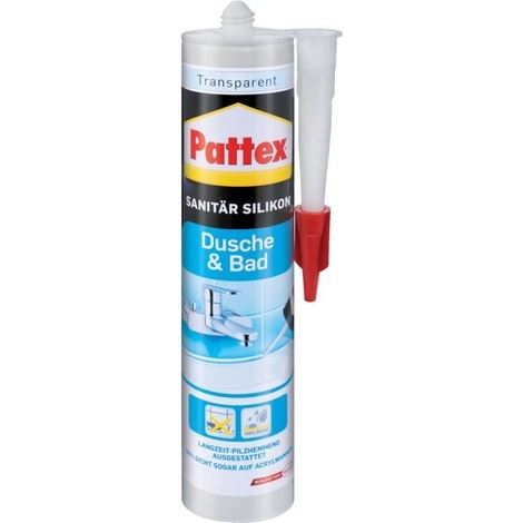 Pattex Silicone sanitaire 300 ml, transparent (Par 12)