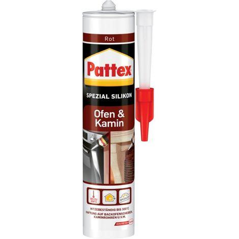Pattex Silicono chimenea 300 ml, rojo (por 6)