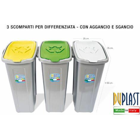 """main image of """"PATTUMIERA DIFFERENZIATA 3 SCOMPARTI SALVASPAZIO"""""""