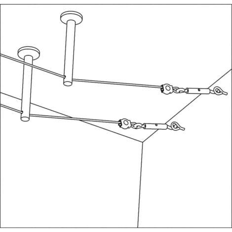 Paulmann 17824 Niedervolt-Seilsystem-Komponente Umlenker 2er Set Chrom S37809