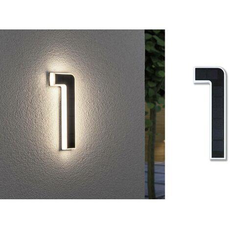 """main image of """"Paulmann 79842 Lampada solare per numero civico 0.20 W Bianco caldo Nero"""""""