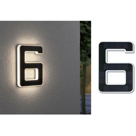 Paulmann 79847 Eclairage solaire pour numéro de maison 0.20 W blanc chaud noir
