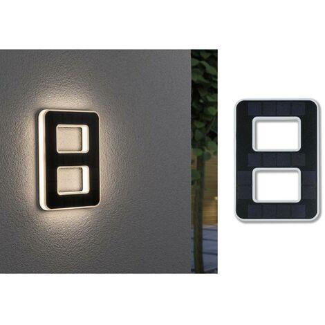 Paulmann 79849 Eclairage solaire pour numéro de maison 0.20 W blanc chaud noir