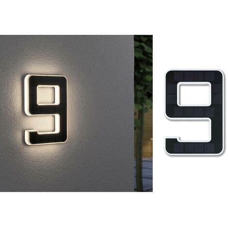 Paulmann 79850 Eclairage solaire pour numéro de maison 0.20 W blanc chaud noir