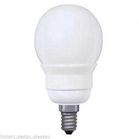 Paulmann 893.05 Miniglobe Energiesparlampe 5W Warmweiß E14 89305