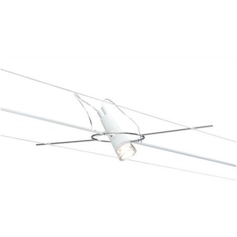 Paulmann 941.01 AIR LED Spot Drum Einzelstrahler 3 W Weiß Seilsystem