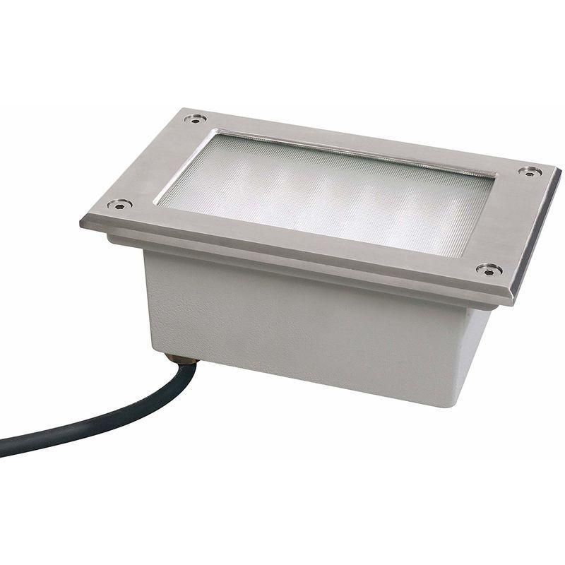 Paulmann 98749 Floor Lampada da terra a LED, a incasso, professionale, fissa, in acciaio INOX [Classe di efficienza energetica A]