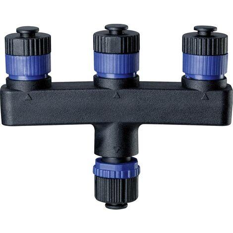 Paulmann Beleuchtungssystem Plug&Shine 3fach-Verteiler 93929 Schwarz S320341