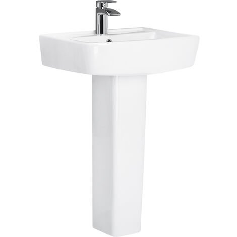 Paulo 520mm Basin & Full Pedestal