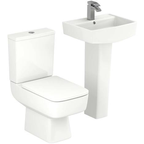"""main image of """"Paulo 520mm Full Pedestal Basin and Toilet Suite"""""""