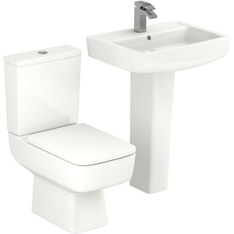 """main image of """"Paulo 600mm Full Pedestal Basin and Toilet Suite"""""""