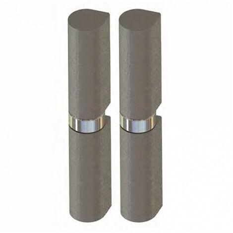 Paumelle à souder butée à bille nœud plat acier (x2) - plusieurs modèles disponibles