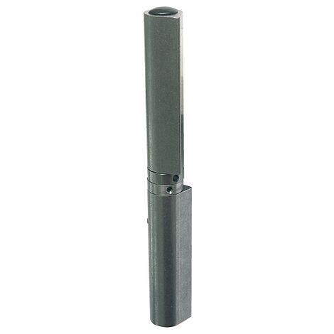 Paumelle à souder menuiserie métallique, réglable dans les 3 dimensions, type Soudaroc 160 mm