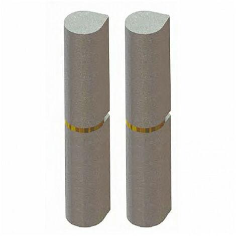 Paumelle à souder nœud plat acier (x2) - plusieurs modèles disponibles