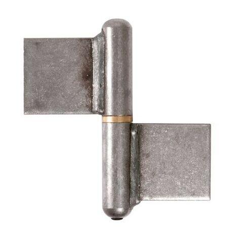 Paumelle à souder nœud plat Torbel Industries d (mm) 12 B (mm) 108 E (mm) 6.1 D (mm) 22 C (mm) 70 Hauteur 140 mm