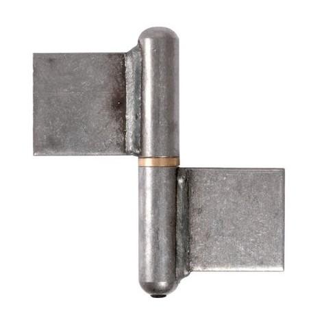 Paumelle à souder nœud plat Torbel Industries D (mm) 20 d (mm) 12 B (mm) 100 C (mm) 50 E (mm) 5.1 Hauteur 100 mm