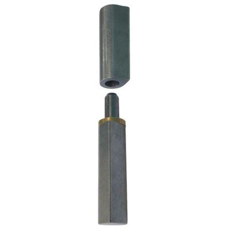 Paumelle acier à souder avec axe amovible 140 mm bague laiton