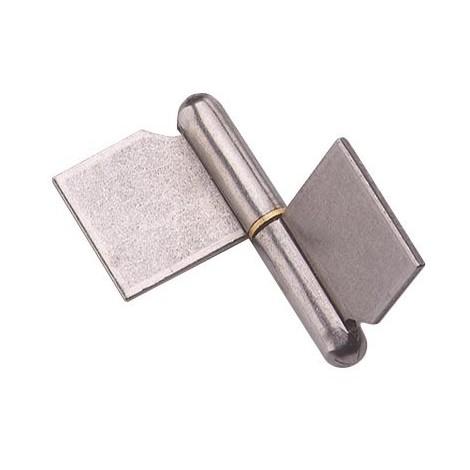 Paumelle de grille à souder MONIN - Forte lame dans l'axe - Acier décapé - 120x108 mm - 6400-643050