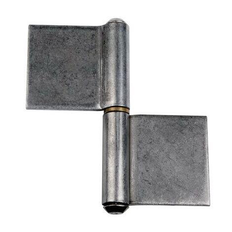 Paumelle de grille à souder MONIN - Lame dans l'axe - Acier décapé - 82.8x80 mm - 6008-641150