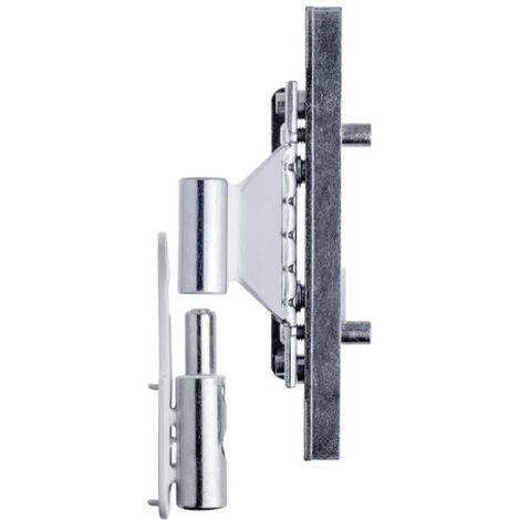 Paumelle droite finition blanc RAL 9010 nœud Ø 16 mm Bixacta