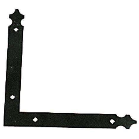 Paumelle équerre finition noir pour volets aluminium et PVC