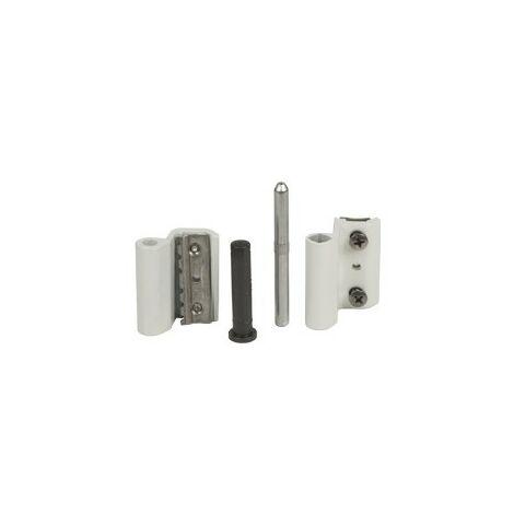 Paumelle Grip+ FAPIM avec axe en acier inox Ø7 mm - Blanc 9016 - 9800A_QX