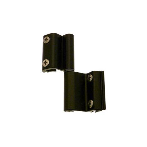 Paumelle Grip+ FAPIM avec axe en acier inox Ø7 mm - Noir 9005 - 9800A_37