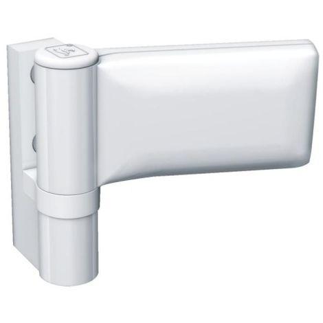 Paumelle pour porte PVC, type KT-EV Dormant largeur 20 mm recouvrement 18/23 blanc 9016