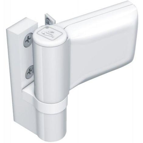 Paumelle pour porte PVC, type KT-SN Dormant largeur 20 mm recouvrement 15/20 blanc 9016