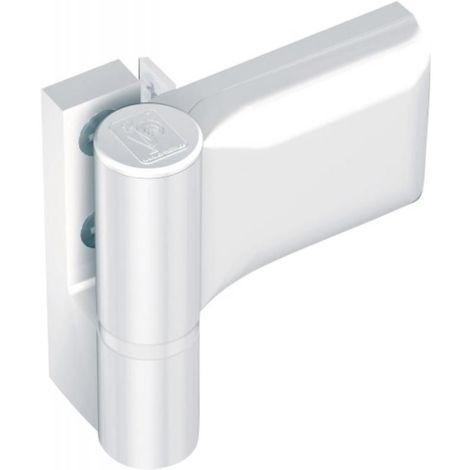 Paumelle pour porte PVC, type KT-SV Dormant largeur 20 mm recouvrement 15/20 blanc 9016