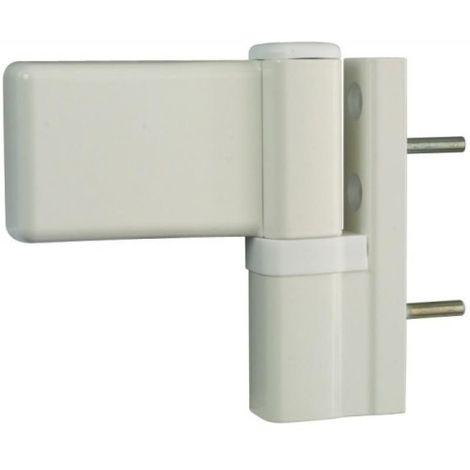 Paumelle pour porte PVC, type KTN6R dormant largeur 20 mm blanc RAL 9010