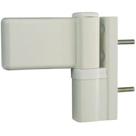 Paumelle pour porte PVC, type KTN6R dormant largeur 20 mm blanc RAL 9016