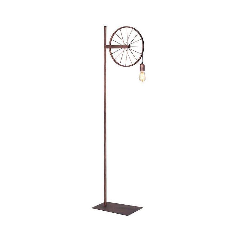 Homemania - Pav Stehleuchte - Etage - Wohnzimmer, Etage - Kupfer aus Metall, 30 x 42 x 165 cm, 1 x E27, 60W