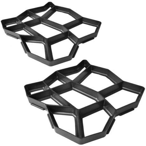 Pavement Mold for the Garden 42 x 42 x 4 cm Set of 2