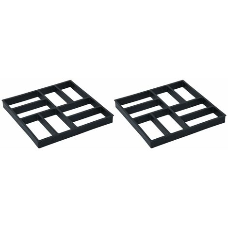 Pavement Moulds 2 pcs 40x40x4 cm Plastic