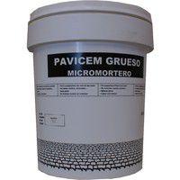Pavicem microcmentoe grueso -25 Kg.,Gris base
