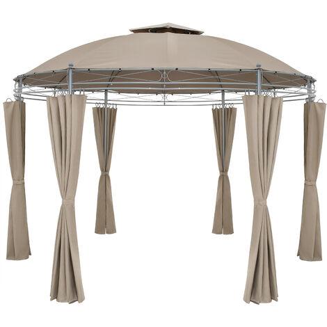 Pavilion Garden Gazebo Party Tent Marquee Toscana Ø350cm Metal Water-repellent Patio Blue