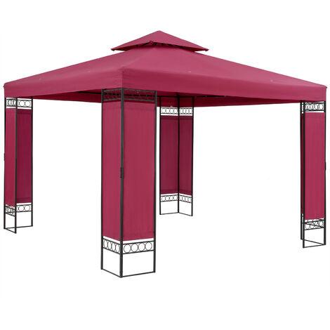 Pavilion Garden Tent Garden Pavilion Lorca 3x3m Metal Water-Repellent Luxury Blue