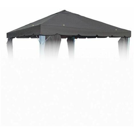 Pavillion Ersatzdach Anthrazit für 3x3 Pavillon Pavillondach Partyzelt Dachplane