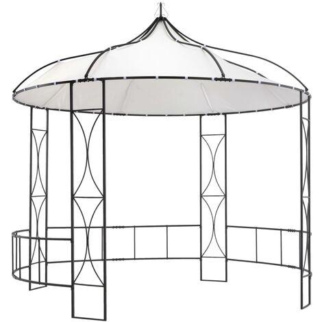 Pavillon 300 x 290 cm Weiß Rund