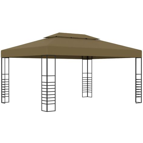 Pavillon 3x4 m Taupe 180 g/m²