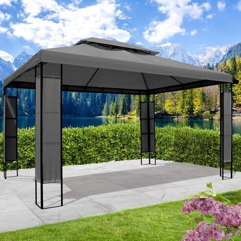 "main image of ""Pavillon Breeze 3x4 m anthrazit inkl. LEDs"""