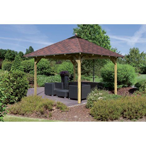 Pavillon de jardin Bois Traité 314x314 cm GRANADA