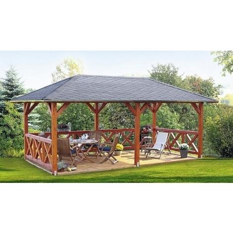 Pavillon de Jardin en Bois Orleans Epaisseur Poteaux 12 cm